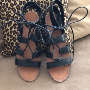 4/$20💵BUNDLE Zara Lace Up Sandal Black SZ38